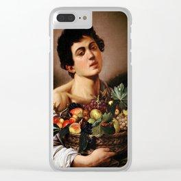 "Michelangelo Merisi da Caravaggio ""Boy with a Basket of Fruit"" 1593–1594 Clear iPhone Case"