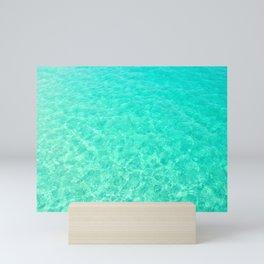 Turquoise Blue Ocean Mini Art Print