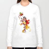actor Long Sleeve T-shirts featuring Cracked Actor by Ashleigh Hungerford