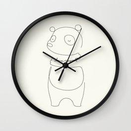 Love Yourself Panda Wall Clock