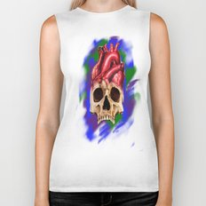 Think With Your Heart Biker Tank
