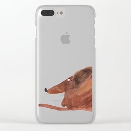 Waldemar scratching himself Clear iPhone Case
