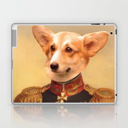 Corgi General Portrait Painting | Corgi Lovers! Laptop & iPad Skin
