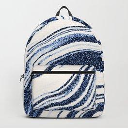 Textured Marble - Indigo Blue Backpack
