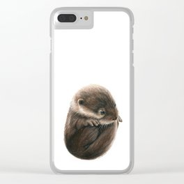 Shy Otter Clear iPhone Case