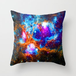 Cosmic Winter Wonderland Throw Pillow