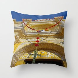 Month of the Rosary Throw Pillow