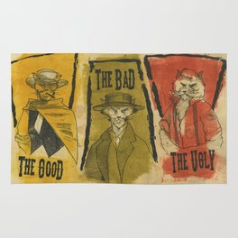 The Good The Bad The Ugly Cats Rug
