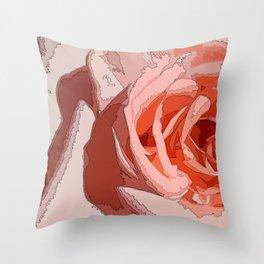 orange rr Throw Pillow