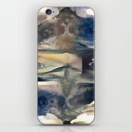Cloudy Xray Mandala iPhone Skin