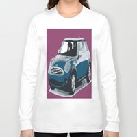 mini cooper Long Sleeve T-shirts featuring blue mini cooper beautiful gift for christmas by Acus