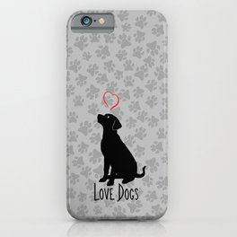 Love Dogs-Animal Lover-Dog-Heart iPhone Case