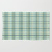 grid Area & Throw Rugs featuring Grid by crrr