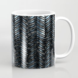 Alien Columns - Blue and Black Coffee Mug