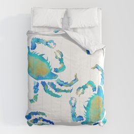 Craggy Blue Crab Comforters