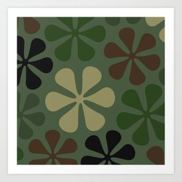 Abstract Flower Camouflage Art Print