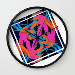 Square palms Wall Clock
