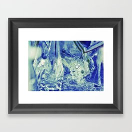 Ice Abstract Framed Art Print