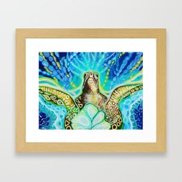 Magic Sea Turtle Framed Art Print