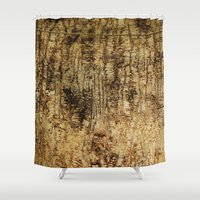 wood Shower Curtains featuring wood by Кaterina Кalinich
