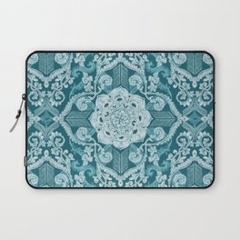 Centered Lace - Teal  Laptop Sleeve