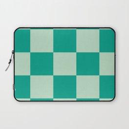 Bright Mint Wanderlust Checker Leprechaun Laptop Sleeve