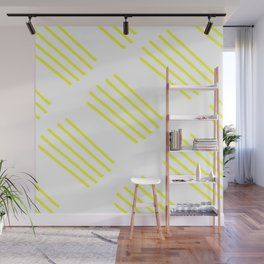 highlighter yellow stripes lasoffittadiste Wall Mural