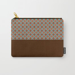 Maroon Pattern Carry-All Pouch
