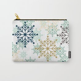 Christmas pattern with snowflakes. Carry-All Pouch