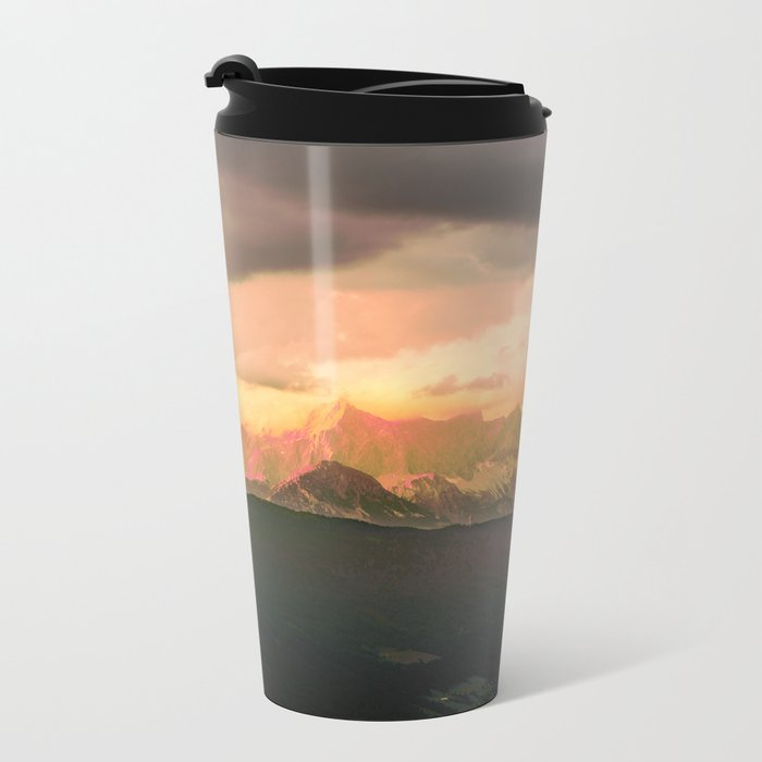 Escaping  -  Mountains - Dachstein, Austria Metal Travel Mug