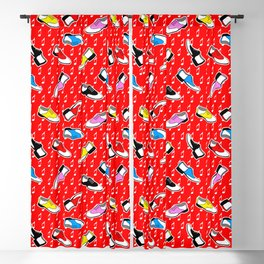 red sock hop pattern Blackout Curtain