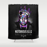 notorious Shower Curtains featuring Notorious Beef by Street Vandals