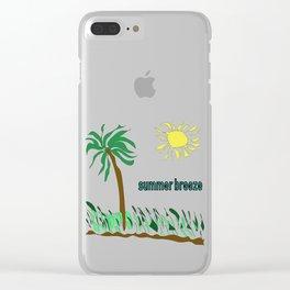 summer breeze minimal sketch Clear iPhone Case