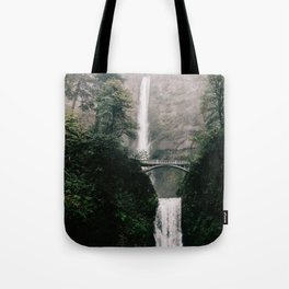 Multnomah Falls Waterfall in October - Landscape Photography Tote Bag