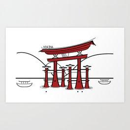 Icon-O-Tecture | Miyajima Torii Gate Art Print