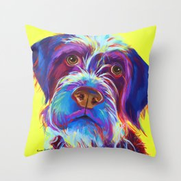 Wirehaired Griffon or Labradoodle Throw Pillow
