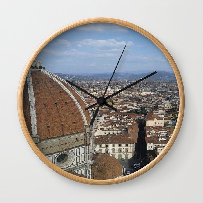 Firenze From Above Wall Clock