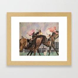 Stretch Run Framed Art Print