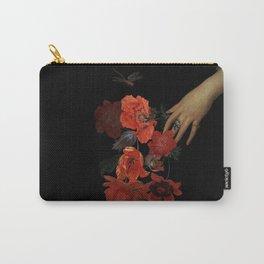 Jan Davidsz. de Heem Hand Holding Bouquet Of Flowers  Carry-All Pouch