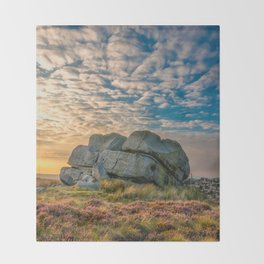 Sunset by Hitching Stone Throw Blanket