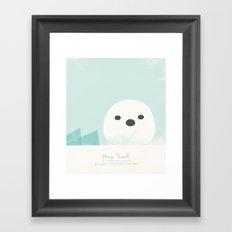 Harp Seal Framed Art Print
