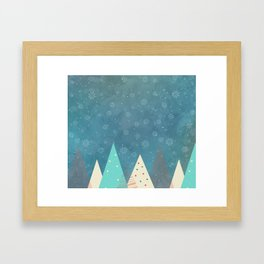 Xmas tree Framed Art Print