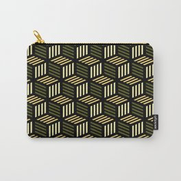 Cubic Olive Carry-All Pouch