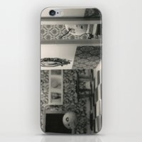 tim burton iPhone & iPod Skins featuring Hanging a painting fail - tim burton by PaperTigress
