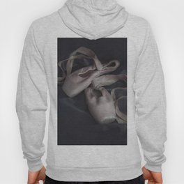 Pastel pink points ballet shoes Hoody