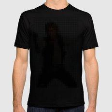 Han with Gun Pixels Texture Mens Fitted Tee MEDIUM Black