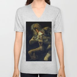 "Francisco Goya ""Saturn Eating his Son"" Unisex V-Neck"