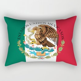Flag of Mexico with Coat of Arms (augmented scale) Rectangular Pillow