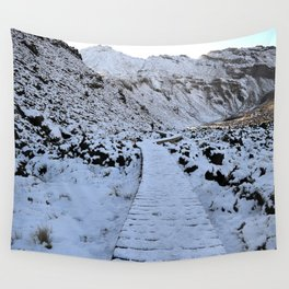 Snow in the Tongariro Wall Tapestry