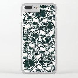Pirate - White - Pirate Clear iPhone Case